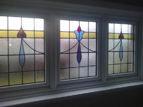 Upvc frames double glazing stained glass windows for Upvc double glazing